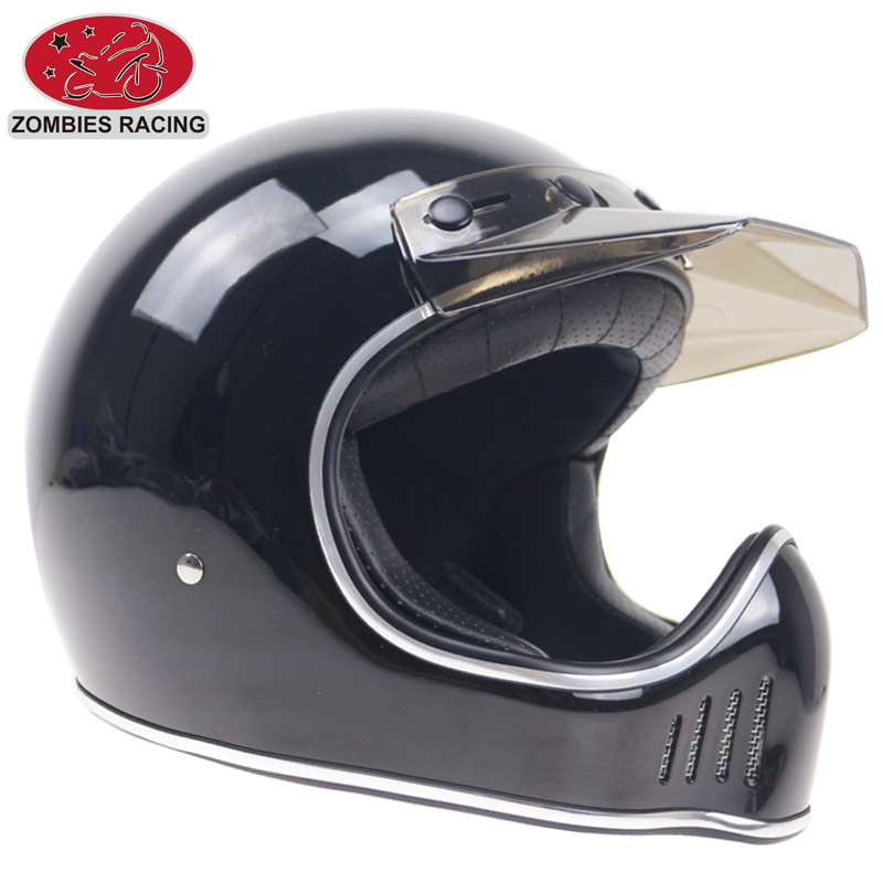 70S Stylish Full Face Motorcycle Helmet Vintage Light Weight Cafe Racer Motorbike In Helmets From Automobiles Motorcycles On Aliexpress