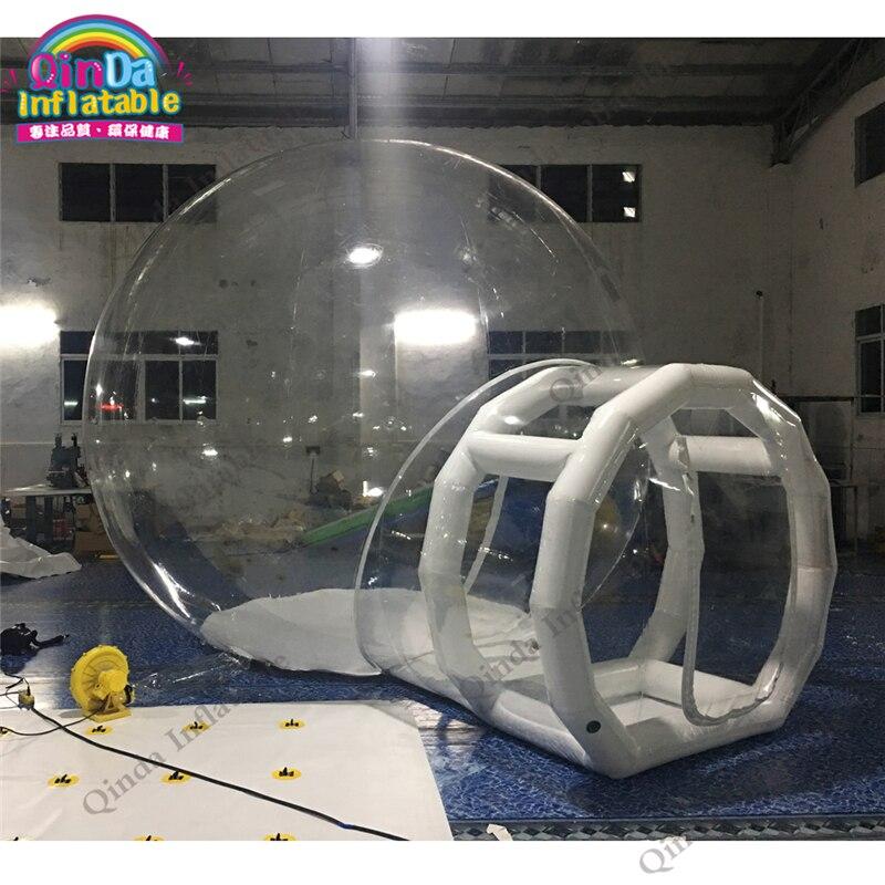 10 minutes mis en place ignifuge PVC transparente transparente gonflable bulle tente pour le camping en plein air