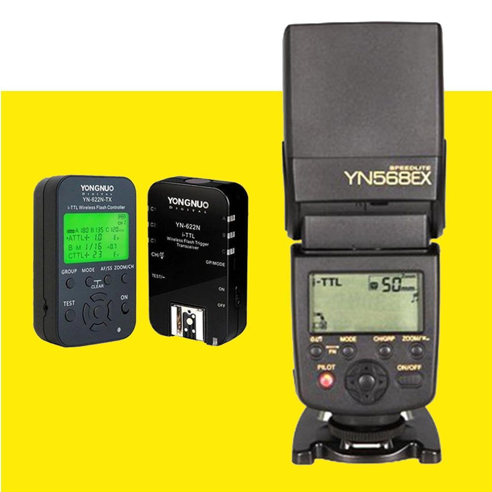 YONGNUO YN-568EX YN568EX HSS TTL Вспышка Speedlite Для Nikon + YN622N-KIT YN622N-TX YN622N RX Контроллер Флэш-Триггер Для Nikon