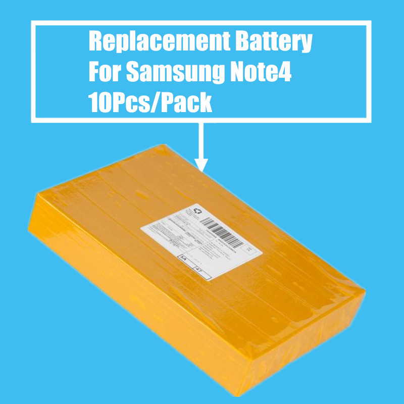 10Pcs/Pack 3220mah Replacement <font><b>Battery</b></font> for <font><b>Samsung</b></font> Galaxy Note4 N9100 High Quality