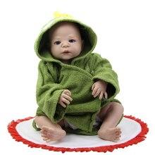 NPK 23 Inch Realistic Reborn Babies Doll Full Body Silicone Lifelike Dolls Boy Kids Christmas Birthday Gift