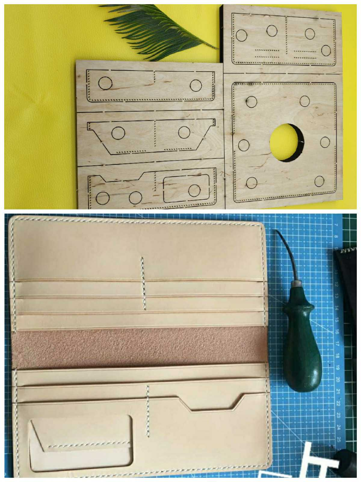 Japan Steel Blade Rule Die Cut Steel Punch Wallet Cutting Mold Wood Dies for Leather Cutter
