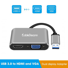 USB 3.0 to HDMI VGA Adapter Converter Support HDMI and VGA Display Simultaneously for Windows 7/8/10 HDTV Projector USB Adapter цена и фото