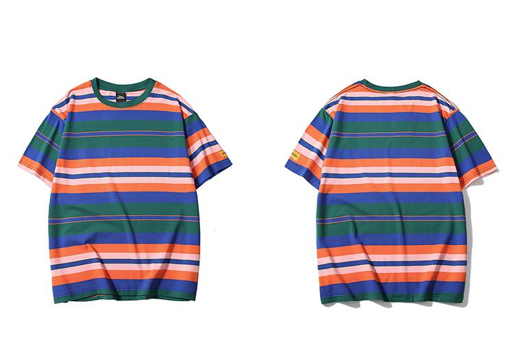 Topdudes.com - Retro Striped Harajuku T-Shirts