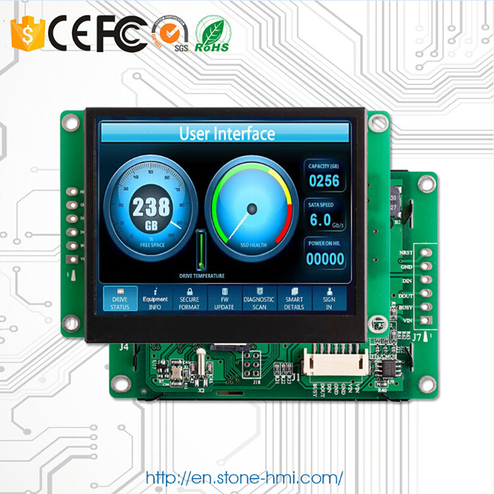 Embedded/ Open Frame Industrial Touch Screen LCD 3.5 Inch Display With Controller + Program