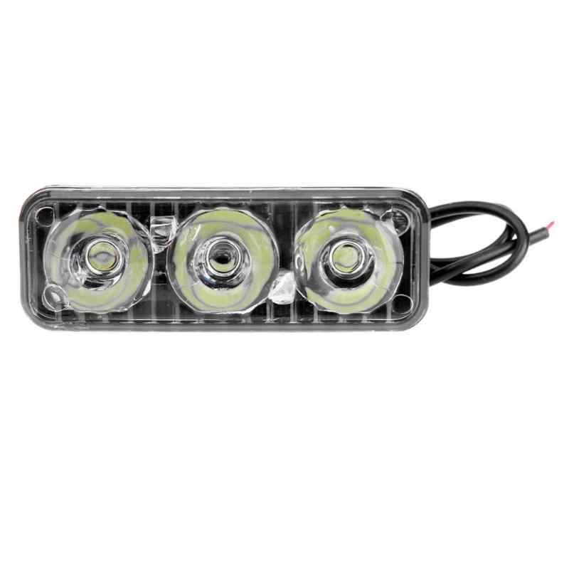 12V 18W High Power 3LED Working Light Vehicle High/Low Beam DRL Daytime Running Driving Lamp Bar 6000K-6700K Auto Accessorie New