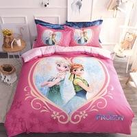 1.5m /1.8m bed Genuine Disney Baby Bedding Sets Children's Cotton Bedding Cartoon Anime Four piece
