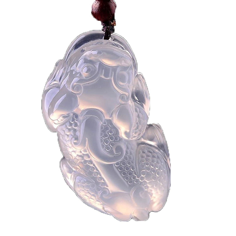 Koraba Fine Jewelry 100% чистый натуральный белый Агат ручной Сейф богатых Храбрые войска амулет Цепочки и ожерелья Подвеска Бесплатная доставка