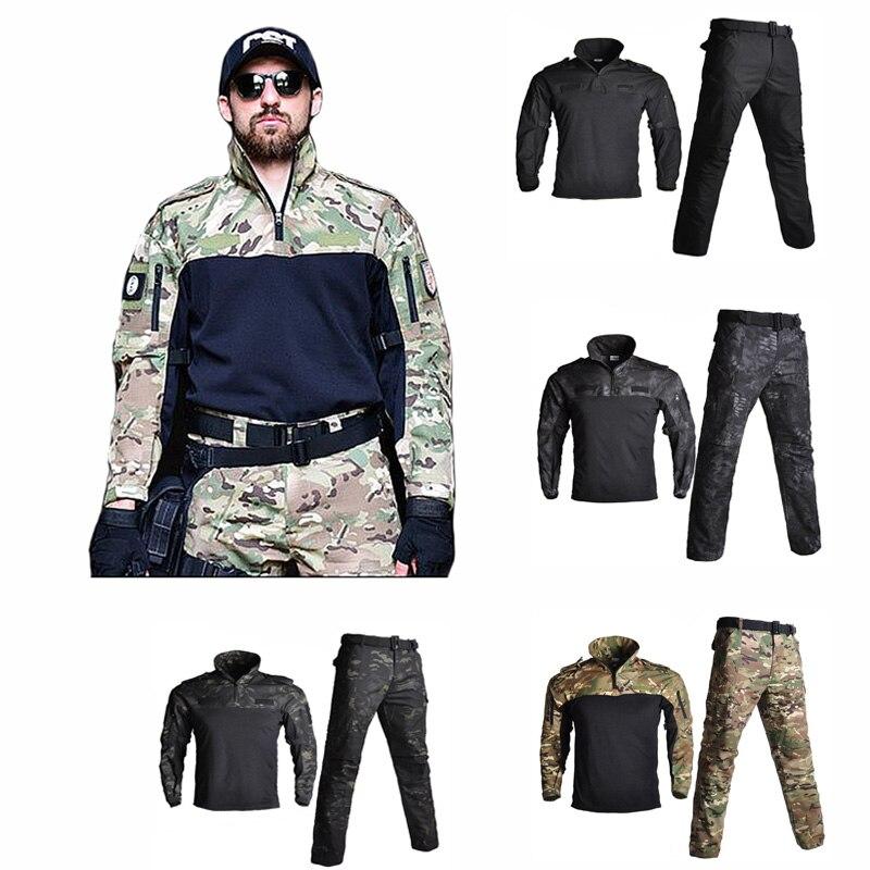 Лидер продаж, охотничий костюм, военная форма, одежда, тактические тренировочные костюмы лягушки, Мужская армейская рубашка и штаны для стр