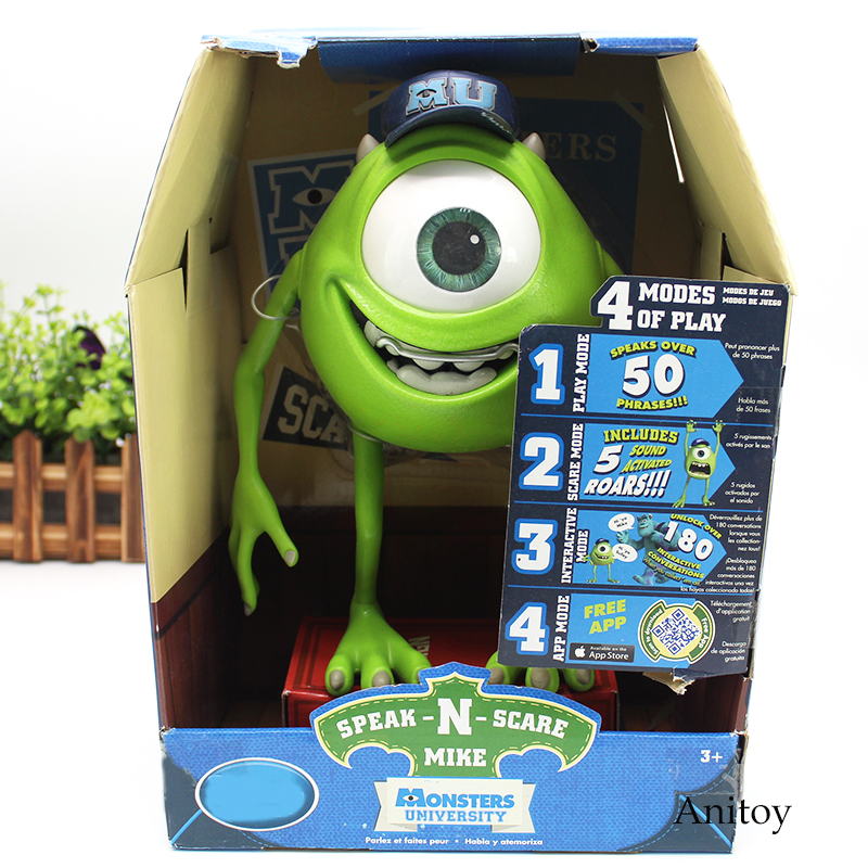 Monsters University Mike Wazowski / Squishy Speak and Scare Toy PVC Figure Gift for Children Kids 25cm 2 Styles mike and psmith