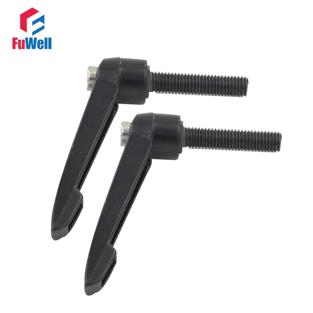 2pcs M10 x 30mm Male Thread Adjustable Handles Knob Free Shipping 10mm Thread Dia. 30mm Thread Length Clamping Handle 14pin 30mm male