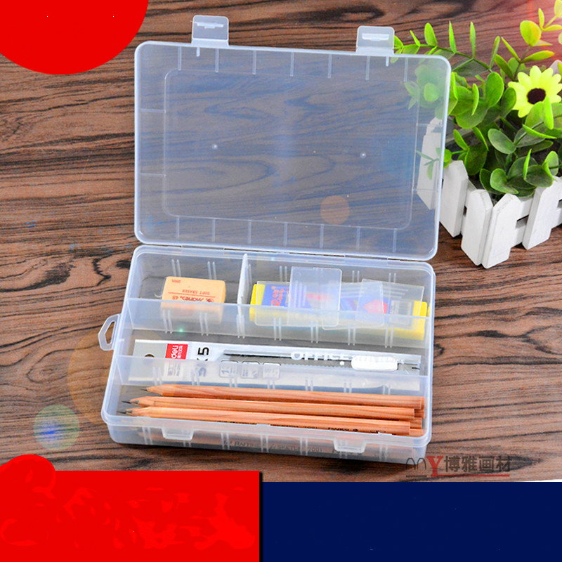 Student Sketch Pencil Case Simple Plastic Tool Box Artistic Supplies Storage Box Transparent Stationery Case School Penalty Etui mini s size pencil bag pencil case pen stationery storage art school office home supplies transparent pens holder fashion gifts