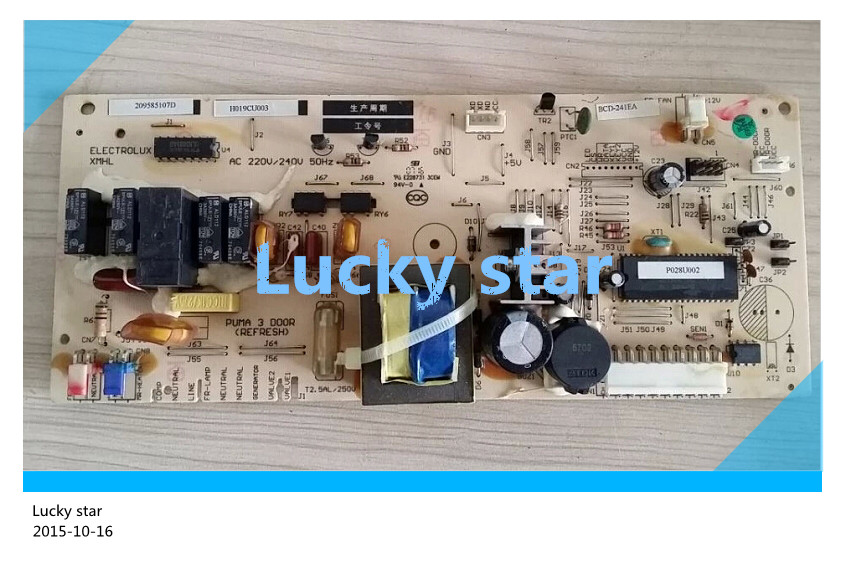95% new for Electrolux refrigerator computer board circuit board PUMA 3 D00R H019CU003 board good working good working used board for refrigerator computer board power module da41 00482j board