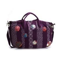 2016 Women Vintage Shoulder Bag Bohemian Hippie Gypsy Boho Big Bag National Vintage Hobo Crossbody Bag Cotton Handbag