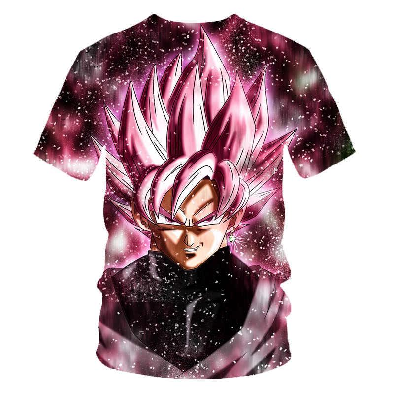 Новый 2019 Dragon Ball Z футболки для мужчин Летняя мода 3D принт Супер Saiyajin Сон Гоку черный Zamasu Вегета дракон футболка Топы корректирующие