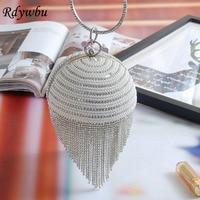 Rdywbu Besten Preis Diamant Quaste Perle Perlen Kupplung Taschen Frauen Handtasche Luxus Voller Perlen Hochzeit Taschen CrossBody Handtasche H01