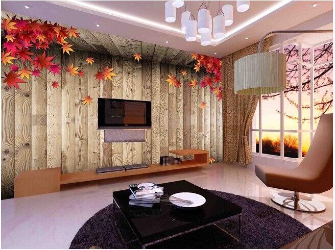 Buy custom vintage wood wallpaper maple for Wallpaper designs for bedroom indian