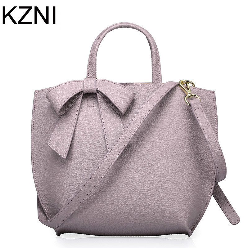 KZNI Genuine Leather Purse Crossbody Shoulder Women Bag Clutch Female Handbags Sac a Main Femme De Marque L111360 hobos bags handbags women famous brand female high quality leather shoulder bag women crossbody bag sac a main femme de marque