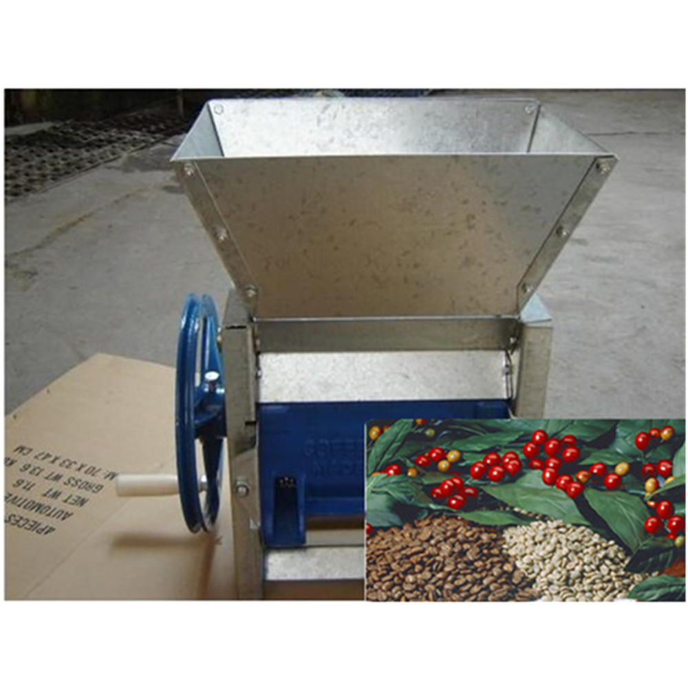 Commercial home use manual coffee bean peeling machine cocoa bean sheller pulping pulp pulper ZF