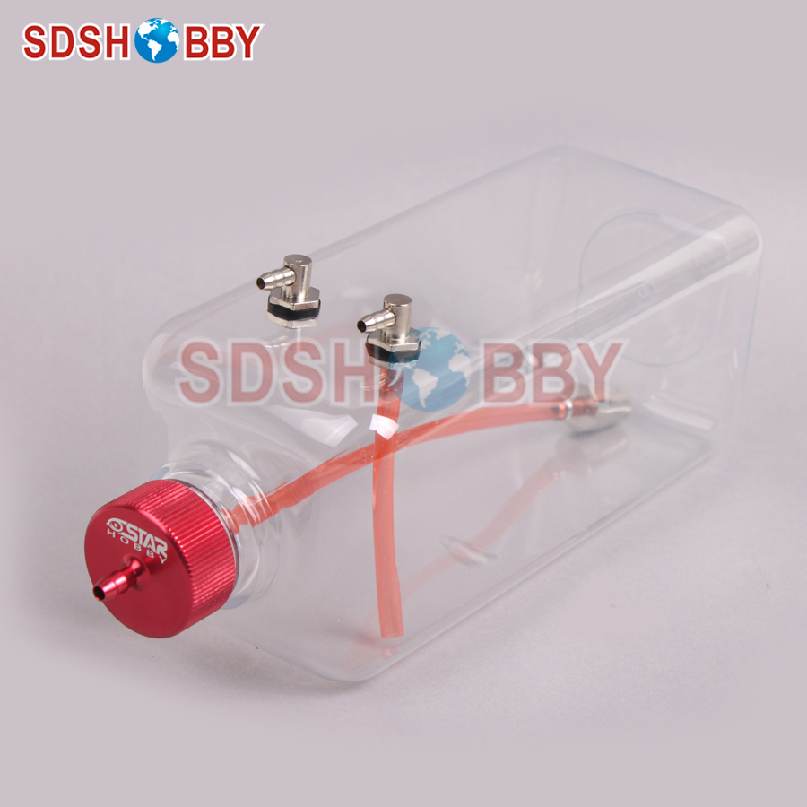 6STARHOBBY 1000ml Transparent Fuel Tank for 85-120cc Gasoline Airplanes / Nitro Airplanes
