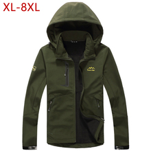 XL-8XL Quick Dry Thin Spring Jackets Men SoftShell Windproof Solid Army Green Military Bom