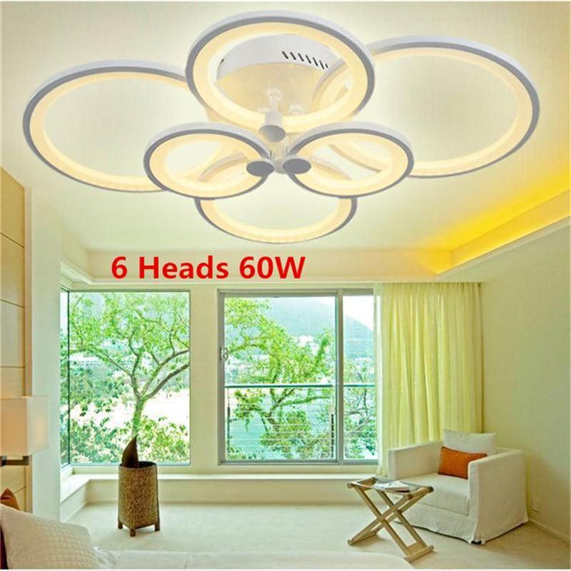 Ring Acrylic <font><b>LED</b></font> Ceiling Lights Living Room Bedroom Lamp Creative Circle <font><b>Plafonnier</b></font> Modern Minimalist Aluminum Lamparas de Techo