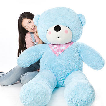 Stuffed animal 47 inch sky blue sleeping Teddy bear plush toy soft doll throw pillow gift w1687 stuffed animal 44 cm plush standing cow toy simulation dairy cattle doll great gift w501