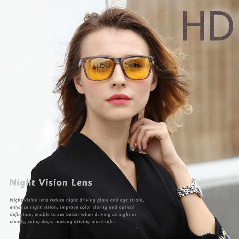 327bb29bdc7 ... 2018 New Night Vision Glasses for Men High Quality Driving Sunglasses  Womens Polarized Driving Yellow Lens ...