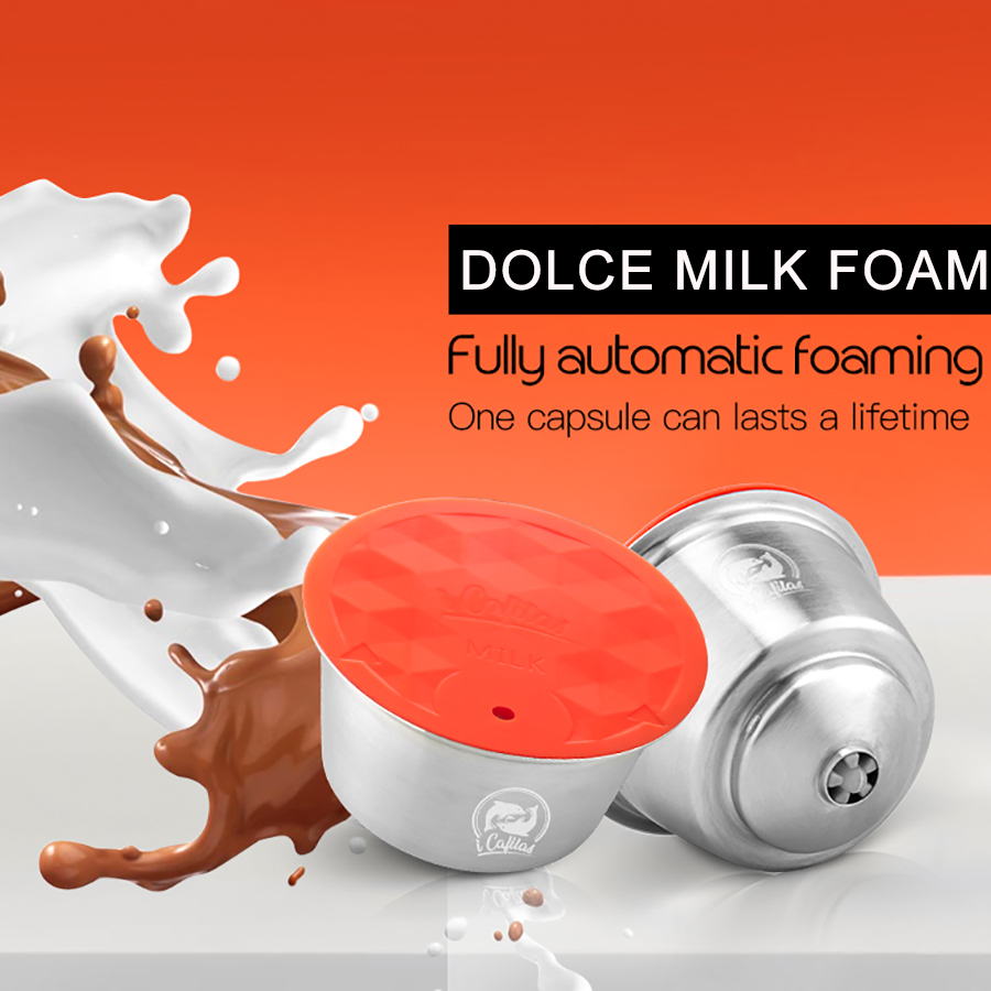Stainless Metal Rusable For Dolce Gusto Milk Foam Capsule Fit For Nescafe With Filter Machine Automatic Milk Beater