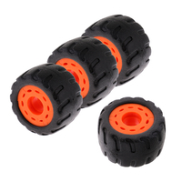 4 pieces Professional Skateboard Longboard Rubber Wheels Wear Resistant 70mm 75A