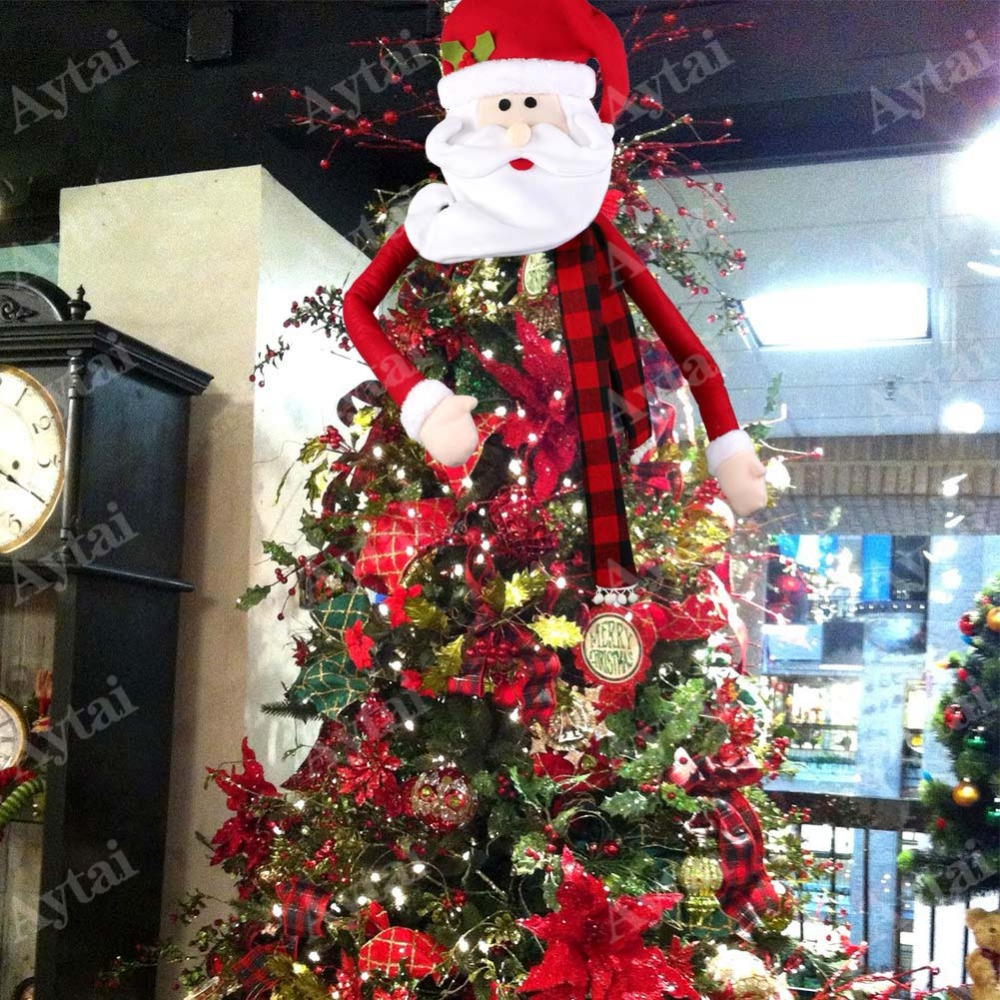 aliexpresscom buy 2018 newest big size snowman christmas tree toppers xmas christmas eve for home decoration tree decor christmas tree top topper from