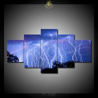 5 Pieces Set Light Of The Night Beauty Paintings Picture Print On Canvas For Home Decoration