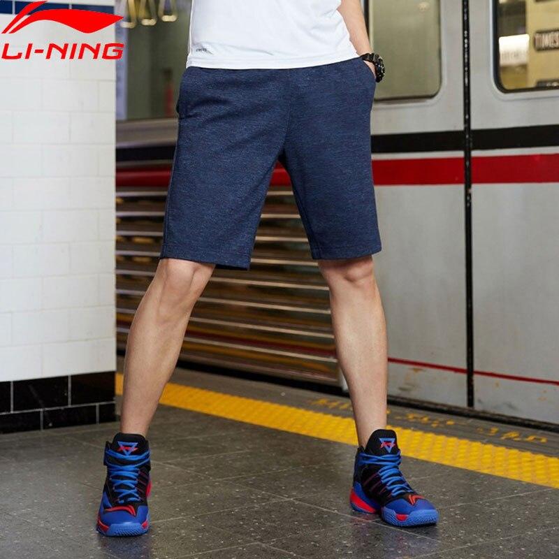 Мужские спортивные шорты Li Ning, дышащие шорты из 72% хлопка и полиэстера, с подкладкой прямого покроя, AKSP129 MKD1625|Баскетбольные шорты|   | АлиЭкспресс