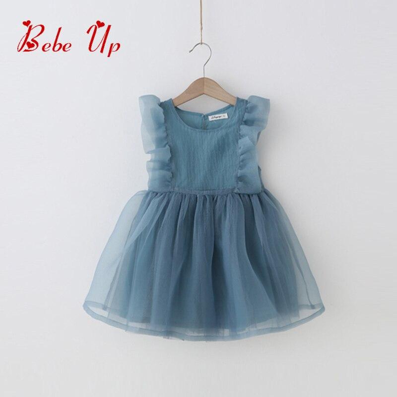 فتاة الصيف اللباس كشكش طفل فتاة - ملابس الأطفال