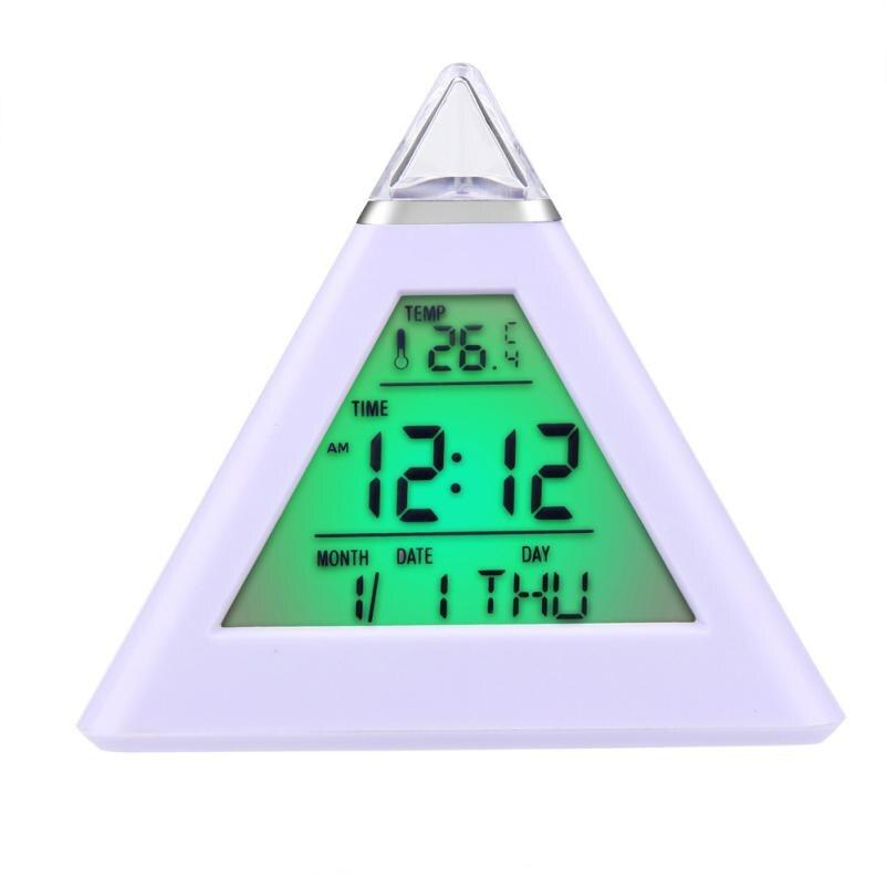 Alarm Clock Fashion Creative Smart Despertador Clock Digital LED SnoozeCalendar Temperature Clocks 17DEC4