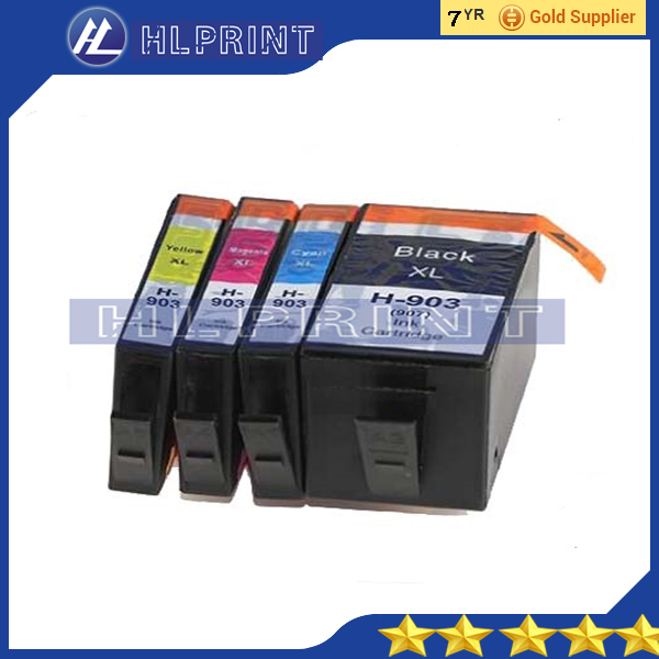 bk 50ml   4pk Compatible ink cartridge hp903xl 903xl 907xl for hp OfficeJet Pro 6960 OfficeJet Pro 6970 All-in-One Printer