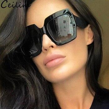 9a29a04be5 Mujeres Nueva Sol Gafas Marca 2018 Grandes De Cuadradas Para vIby6Yf7g