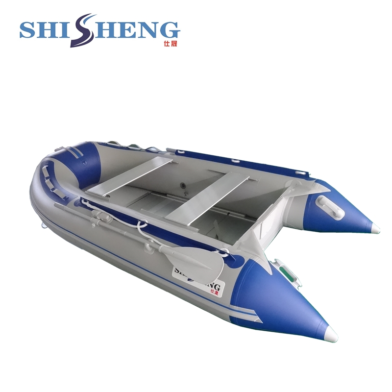2018 CE China PVC Folding Inflatable Boat Cheap PVC Inflatable Rowing Boat For Sale 2017 aluminum floor inflatable folding boat 300cm army green and black for sale