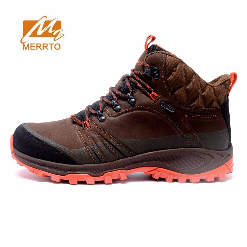MERRTO Men's Leather Outdoor Winter Hiking Trekking Boots Shoes Sneakers For Men Sports Climbing Mountain Boots Shoes Sneakers цена