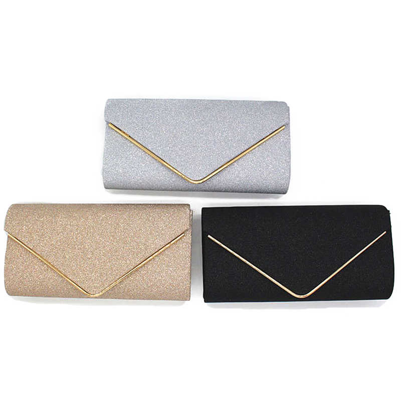 Wanita Evening Bag Wanita Berlian Berlian Imitasi Clutch Pesta Kristal Hari Clutch Dompet Purse Party Pesta Pernikahan Hitam Emas Perak