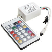 24 Keys IR Remote Controller For WS2811 WS2812 WS2812B LED Strip Light Lamp DC5V