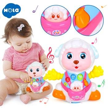 HOLA 888 детские игрушки записи и интерактивная игра Электрический игрушечная овечка дети для раннего развития музыкальные игрушки и огни
