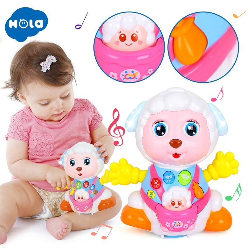 HOLA 888 jouets pour bébés Enregistrer et Jouer Interactif jouet électrique Moutons Enfants Apprentissage jouets éducatifs avec Musique et Lumières