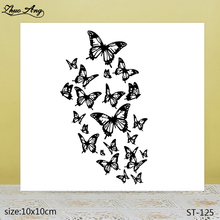 ZhuoAng Beautiful butterfly  transparent seal / sealed DIY scrapbook album decoration card seamless