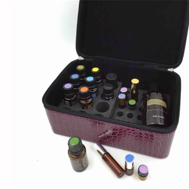 84 Slot Bottles Essential Oil Storage Bag Double Zipper Container Carrying Case Nail Polish Holder Rangement In Bags From Home