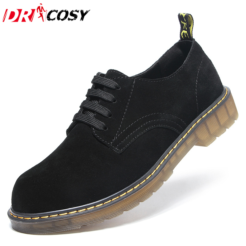 Fashion Genuine Leather Men Board Shoes Men's Lace-up Breathable Martin Shoes Vintage Casual Men Leather Shoes Plus Size 38-47 high quality genuine leather men shoes men s lace up breathable casual shoes vintage fashion men leather shoes plus size 37 47