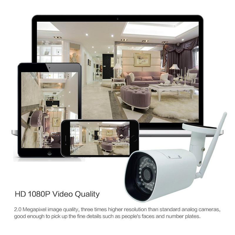 HD 1080P WIFI IP Camera Outdoor Wireless Surveillance Home Security Camera Onvif CCTV Camera With SD Card Slot Max 64G