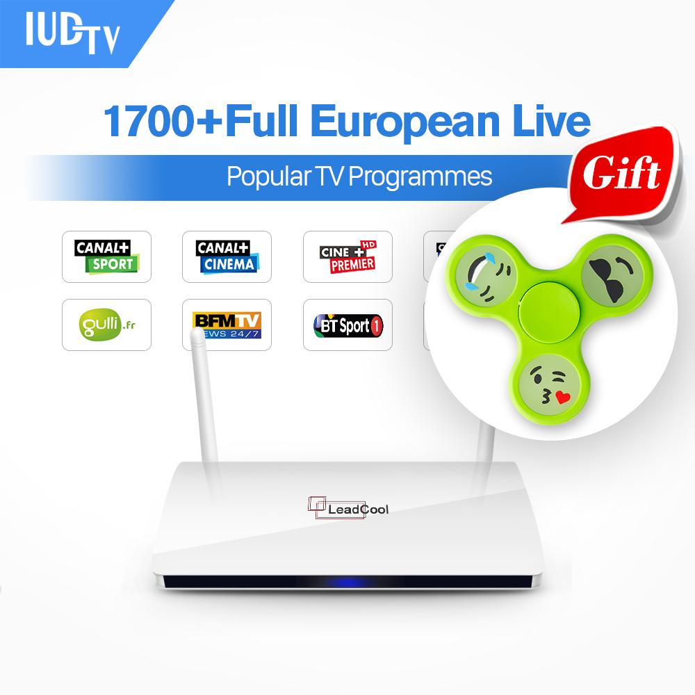 Prix pour Boîte IPTV En Streaming Leadcool Android Wifi 1G/8G Comprennent 1700 Italie Portugal Français Récepteur Europe Chaînes Arabes paquet