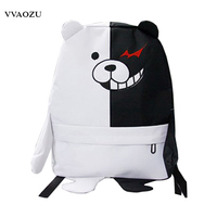 Japan Anime Dangan Ronpa Danganronpa Monokuma Backpack Cute Women School Shoulder Bag Kawaii 3D Bear Rucksack