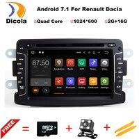 Android 7.1.1 7 Inch Auto Dvd-speler Voor Dacia/Sandero/Duster/Renault/Captur/Lada/Xray 2 Logan 2 RAM 2G WIFI GPS Navigatie Radio